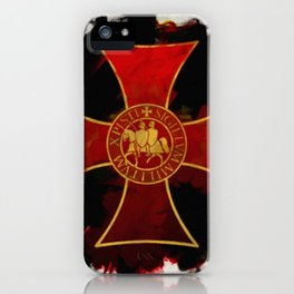 Knights Templar Cross iPhone Case