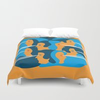 faces Duvet Covers featuring Faces by Jonathan Severin