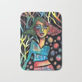 Lost in my own mind Bath Mat