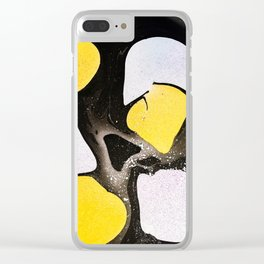 Dino Eggs Marble Painting Clear iPhone Case