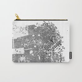 San Francisco Map Schwarzplan Only Buildings Carry-All Pouch