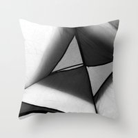 camping Throw Pillows featuring Camping by Benno Blümel