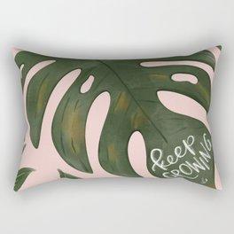 Keep Growing Monstera Rectangular Pillow
