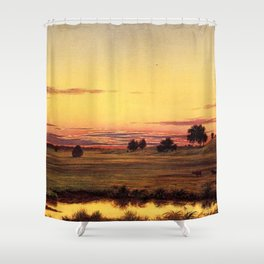Scituate Valley before the Reservoir by Martin Charles Heade Shower Curtain