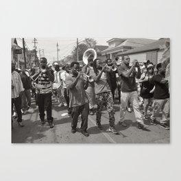 Second Line On Oak Street - New Orleans, Louisiana Canvas Print