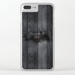 Bat and Man of Steel Clear iPhone Case