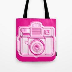 I Still Shoot Film Holga Logo - Reversed Pink Tote Bag