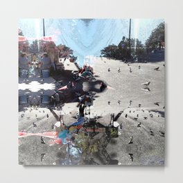 Summer space, smelting selves, simmer shimmers. [extra, 7] Metal Print