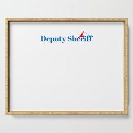 Deputy Sheriff Ninja in Action Serving Tray