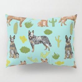 Australian Cattle Dog cactus pet friendly dog breed dog pattern art Pillow Sham