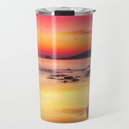 Sunrise over the Beach Travel Mug