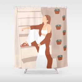 Chilling out Shower Curtain