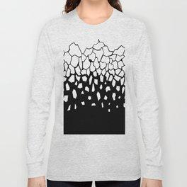 White Fragments Invert Long Sleeve T-shirt