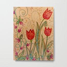 Tulips spring energy Metal Print