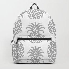 Retro Mid Century Modern Pineapple Pattern Gray Backpack