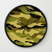 army Wall Clocks featuring ARMY by Sophie