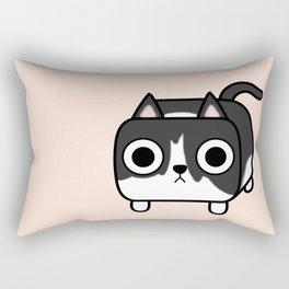 Cat Loaf - Tuxedo Kitty - Black and White Rectangular Pillow