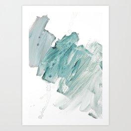 brushstrokes 11 aquamarine Art Print