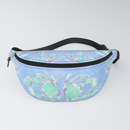 Watercolor blue crab Fanny Pack