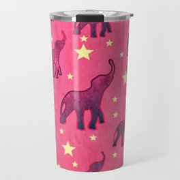 Elephants Stars Pattern Travel Mug
