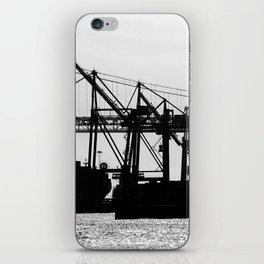 Metallic Architectures Docked Cargo Ships iPhone Skin