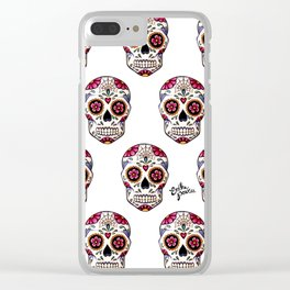 Sugar Skull - white Clear iPhone Case