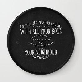 Matthew 22:37 Wall Clock
