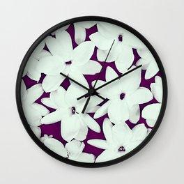 Scattered Jasmine Purple Wall Clock