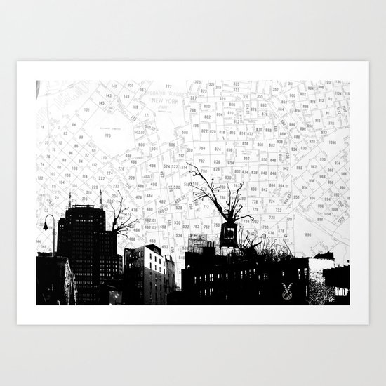 NYC splatterscape Art Print