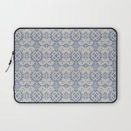 Vintage blue tiles pattern Laptop Sleeve