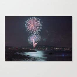 Rockport Firework at Old Garden Beach Canvas Print