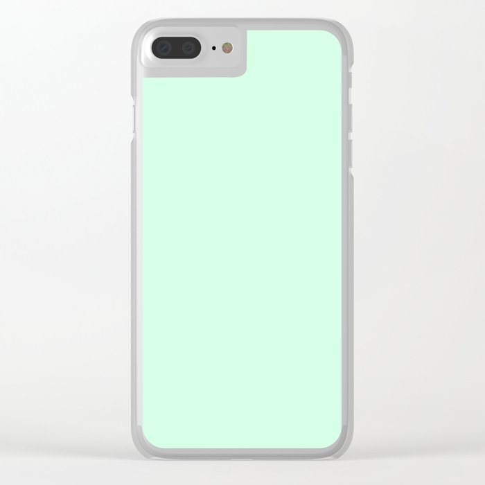 Pale Green Summermint Pastel Green Mint Clear iPhone Case