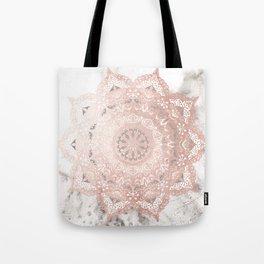 Dreamer Mandal Rose Gold Tote Bag