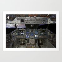 nasa Art Prints featuring Space Shuttle NASA by Planet Prints