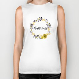 HP Hufflepuff in Watercolor Biker Tank