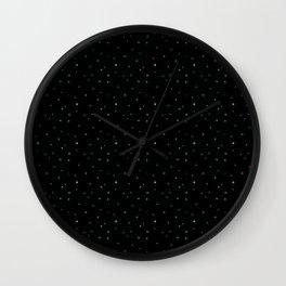 dots on black Wall Clock
