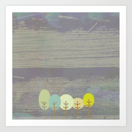 grove of trees Art Print