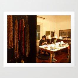 Artisan workshop, Recoleta, Buenos Aires Art Print