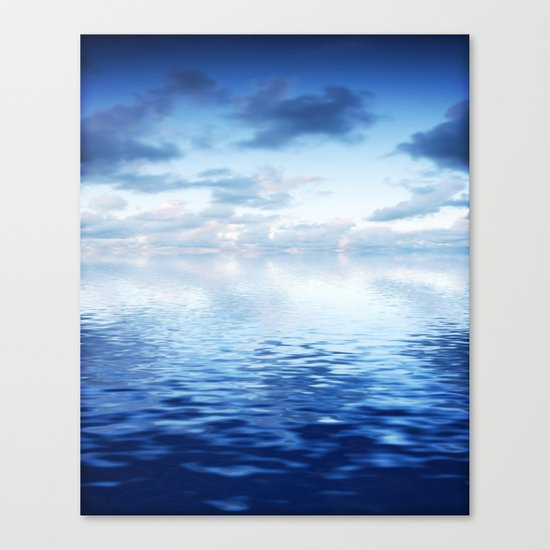 Blue ocean #reflection Canvas Print