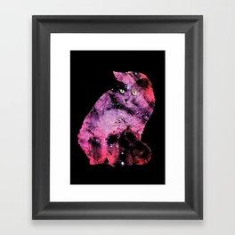 Celestial Cat - The British Shorthair & The Pelican Nebula Framed Art Print