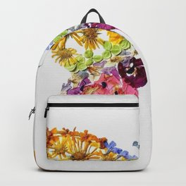 Grey Pressed Flower Butterfly Backpack