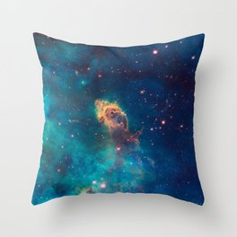Space Nebula, A View of Astronomy, Stars, Galaxy, and Outer space  Throw Pillow