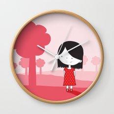 Polkadot Dress Wall Clock