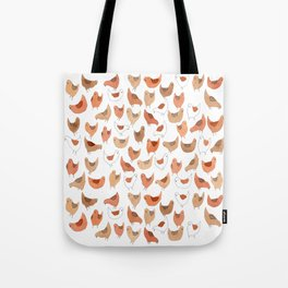 Chicken Pattern Tote Bag
