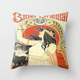 Vintage poster - Bitter Oriental Throw Pillow