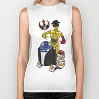 beastie boys Biker Tanks featuring Beastie Droids by JVZ Designs