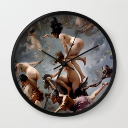 Witches Going To Their Sabbath Luis Ricardo Falero Wall Clock