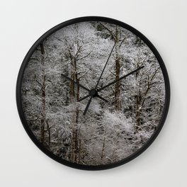 Snow Dusted Trees, No. 2 Wall Clock