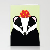 badger Stationery Cards featuring Badger by onelittledickybird