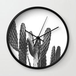 Cactus Photography Print {3 of 3} | B&W Succulent Plant Nature Western Desert Design Decor Wall Clock